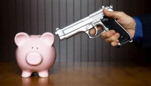 Ransomware-Gun-Piggy-Bank