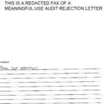 Meaningful use rejection letter that shows why it's best to get help with HIPAA.