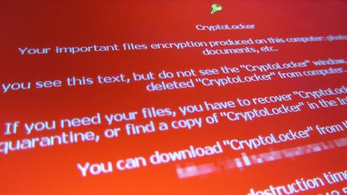 Ransomware must be paid in cryptocurrency photo.